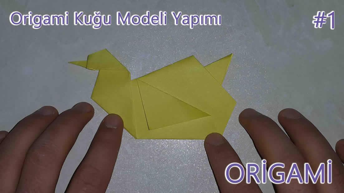 Origami Kuğu Modeli Yapımı