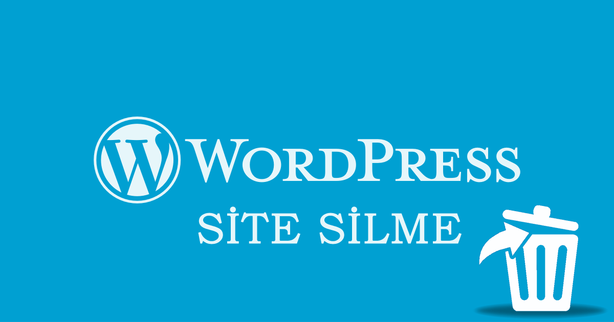 WordPress Sitesi Silme